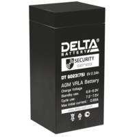 Аккумулятор Delta DT 6023 (75мм)