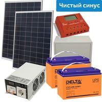 Солнечная электростанция Эко 400-1500 (24 В, чистый синус)
