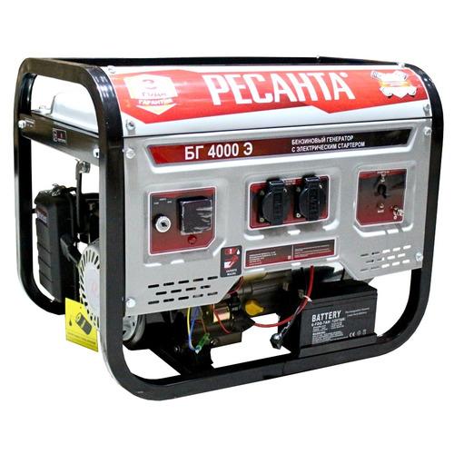 Бензиновый генератор БГ 4000 Э Ресанта
