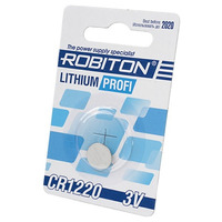 Элемент питания ROBITON PROFI R-CR1220-BL1 CR1220 BL1 13058
