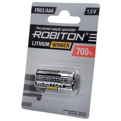 Элемент питания ROBITON WINNER R-FR03-BL2 FR03 BL2 13264