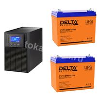 Система резервирования ELTENA+Delta 1000ВА/2х75А*ч