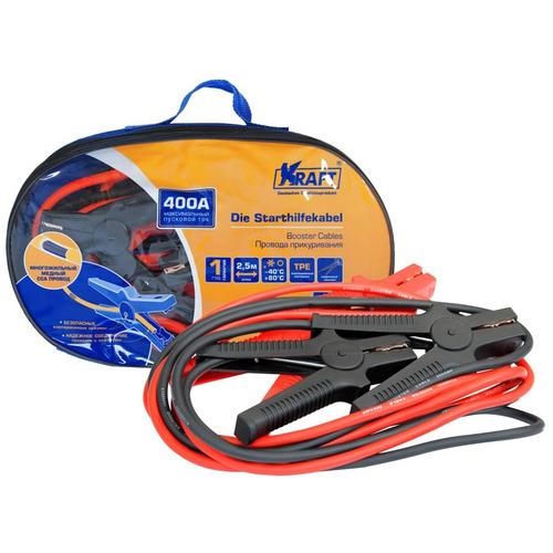 Провода прикуривания KRAFT 2,5 м, 400 А KT-880002