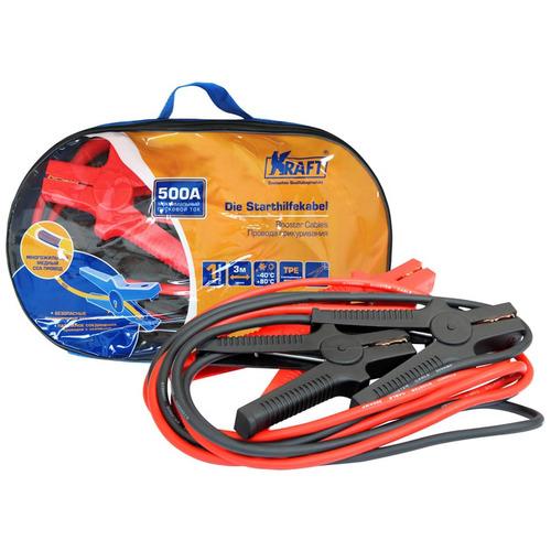 Провода прикуривания KRAFT 3 м, 500 А KT-880003