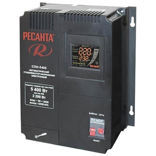 Однофазный стабилизатор напряжения РЕСАНТА СПН-5400