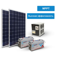 Солнечная электростанция Макси 600-3000 (24 В, чистый синус)